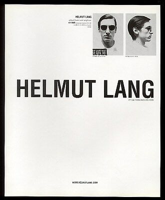 1999 Helmut Lang optical frames and sunglasses photo vintage fashion print ad
