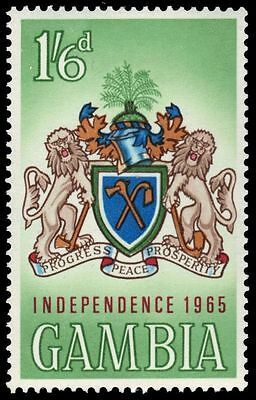 """GAMBIA 209 (SG214) - Independence """"National Coat of Arms"""" (pa79051)"""