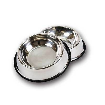 Stainless Steel Pet Dog Bowl Feeder Cat Puppy Travel Feeding Food Water Dish New