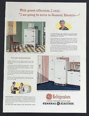 1945 General Electric Refrigerator Original Advertisement WW II AD War Bonds