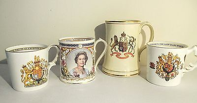 ROYAL COMMEMORATIVE CUPS mugs bell SILVER GOLDEN JUBILEE DIANA WEDDING