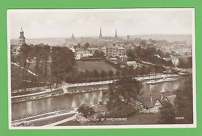 Vintage postcard.General view of Shrewsbury, Shropshire