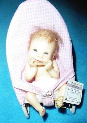 ASHTON DRAKE mini so truly real resin reborn baby SILLY ME with chair rare UK