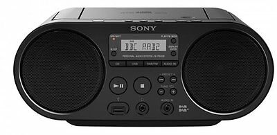 Sony ZS-PS55B CD Boombox with DAB and FM Radio Digital Tuner Black Music Sound