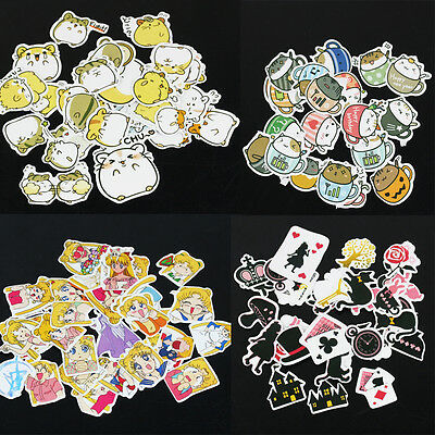 Cartoon Expression Adhesive Decorative Stickers Diary DIY Scrapbooking Craft au