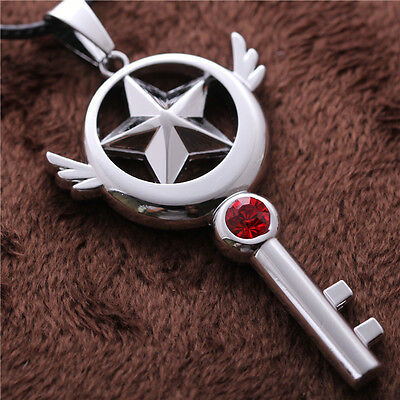 Anime Card Captor Sakura Kinomoto Star Wand Choker Necklace Pendant Cosplay Gift