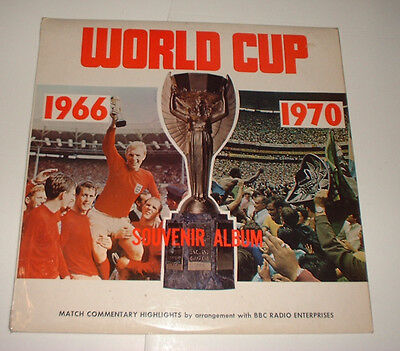 1970  The World Cup Lp 1966 & 1970  Finals & Semi Finals England Germany Brazil