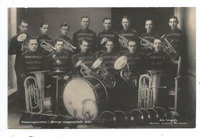 Salvation Army Brass Band Music Corps1932 RPPC Royal Photographer Larsson Swede