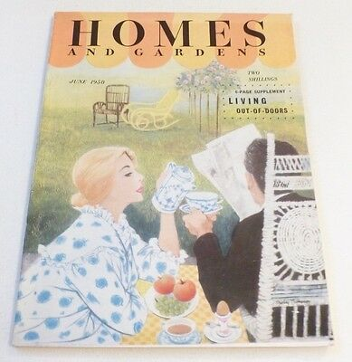 VINTAGE Homes and Gardens magazine June 1958 Cadburys, Ford etc