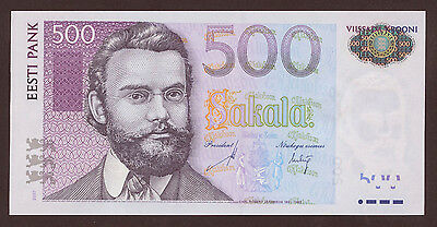 Estland / Estonia 500 Kronen 2007 Pick 89 (1)