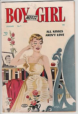 Boy Meets Girl #7,clean Copy,1951,nice Pages!