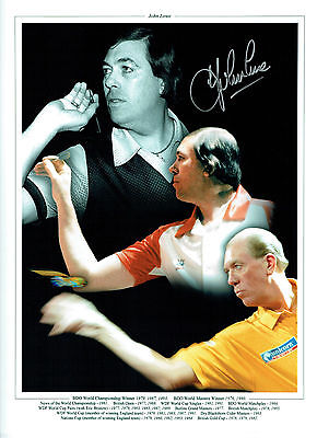 John LOWE Signed Autograph Darts 16x12 Montage Photo AFTAL COA