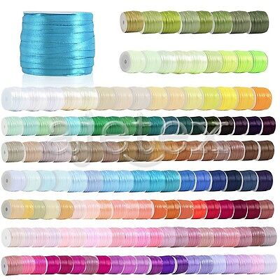 "50 Yards Satin Ribbon 1/8"" Wedding Party Supplies RN0001"