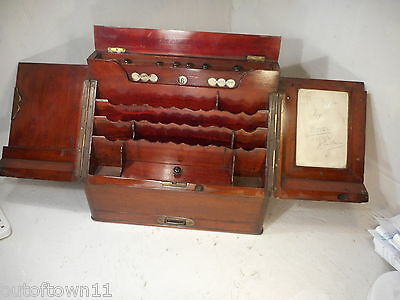 Mahogany  Stationery Cabinet , Writing Box, Perpetual Calendar     ref 2262
