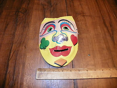 Vintage CLOWN Molded Paper Halloween Mask