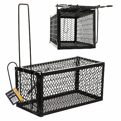 Large Rat Mouse Trap Catcher Metal Cage Spring Live Animal Rodent Pest Control