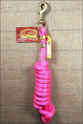 Hot Pink Hilason Western Tack Horse Poly Soft Lead Ropes W/ Brass Plated Snap