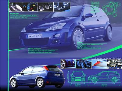Car Poster of a Ford Focus RS 60cm x 45cm Aprox