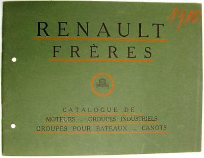 RENAULT Freres Engines Aero, Boat, Stationary Sales Brochures 1910 French