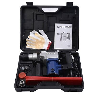 Electric Rotary Hammer Drill SDS Chisel Bits Demolition Kit w/ Case Tool