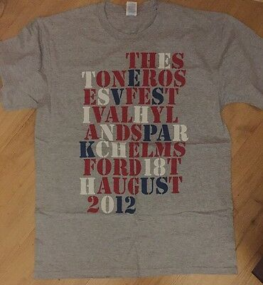 The Stone Roses - rare OFFICIAL 2012, V Festival Hylands Park Shirt, Size Large