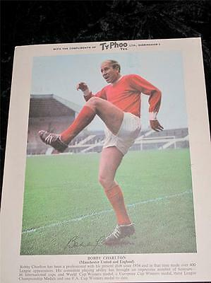 Ty-Phoo Tea Card Football Stars 2nd Series Bobby Charlton Manchester United 1969