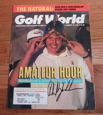 Vintage 1991 Golf World Signed Phil Mickelson Autograph PGA