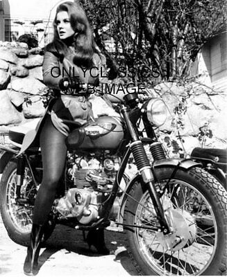 Sexy Beautiful Ann Margret Rides Triumph Motorcycle Photo Celebrity Woman Riders