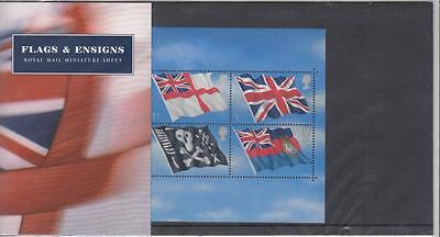 Gb Flags And Ensigns Presentation Pack S/sheet Po Fresh
