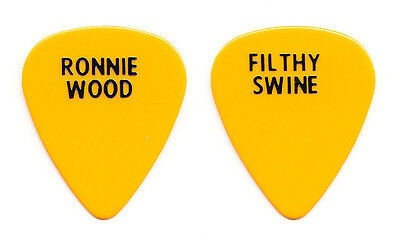 Rolling Stones Ronnie Wood Filthy Swine Guitar Pick - 1994 Voodoo Lounge Tour