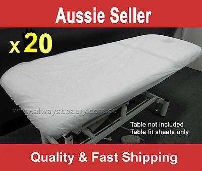 20Pc Disposable Fitted Sheet Massage Table Beauty Bed Covers Water Oil Proof New