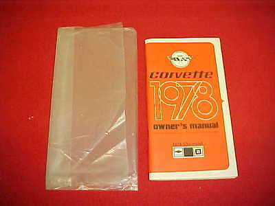 1978 Corvette Vette Original Nos Blank Owners Manual Service 78 + Card Pouch