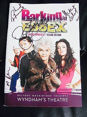 Barking In Essex London Theatre Programme Signed Cast Lee Evens Sheila Hancock