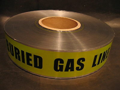 "Detectable Underground Yellow Buried Gas Line Below Tape 2""x1000' New"