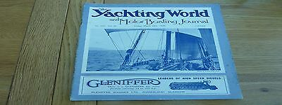 1938 March 18 Yachting World Magazine Original Complete