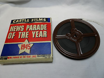 """WWII Castle Film News 8mm Movie Reel 5"""" News Parade of the Year 1945"""