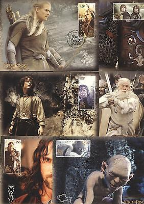 (209444) Cinema, Lord of the Rings, maxi cards, New Zealand