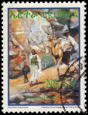 """ERITREA 388 - Cultural Heritage """"Highland Woman with Camel"""" (pa65340)"""