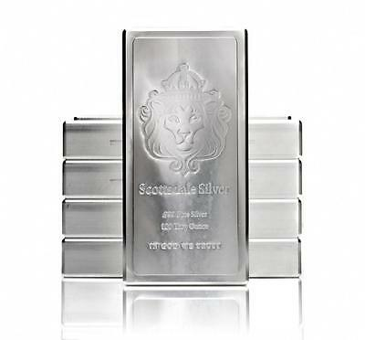 SPECIAL PRICE! 100 oz Scottsdale Stacker Silver Bar .999 Silver Bullion  #A209