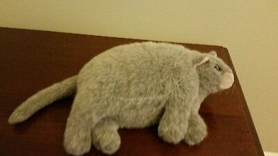"DAKIN ""DUCHESS CAT"" Plush Gray Fat Cat Resting Laying Stuffed Amimal plush"