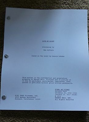 LIVE BY NIGHT MOVIE FYC For Your Consideration screenplay script