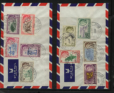 Cayman  Islands  2 nice franking covers       MS0519