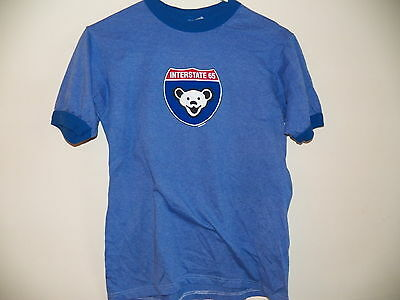 VINTAGE 2000 New Old Stock GRATEFUL DEAD Bear Interstate 1965 Ringer T-Shirt S