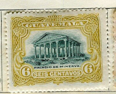 GUATEMALA;  1902 early pictorial issue Mint hinged 6c. value