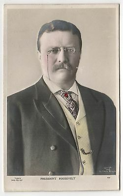 PRESIDENT THEODORE ROOSEVELT PC Postcard POLITICAL Bas Relief ALLIANCE SERIES