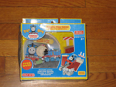 New Take Along Thomas Deluxe Play Scene Die Cast with DVD