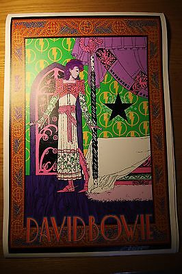 "David Bowie ""STARMAN"" Poster by 60s art icon Bob Masse Purple Variant Test Print"
