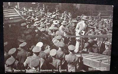 WW1  Photo Postcard  Passed by Censor Official War Photo The Leave Boat WWI