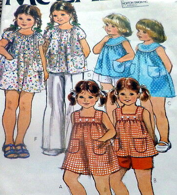 *LOVELY VTG 1970s GIRLS DRESS Sewing Pattern 1