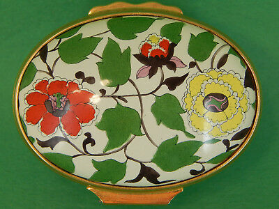 Halcyon Hinged Enamel Over Copper - Winterthur Museum Gardens - Bright Floral